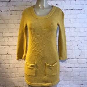 Boden Mustard yellow sweater dress